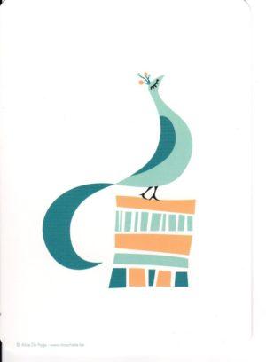carte postale illustrée par alice de page et éditée aux éditions sur un nuage le paon