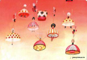 carte postale illustrée par alice de page et éditée par sur un nuage les parachutistes