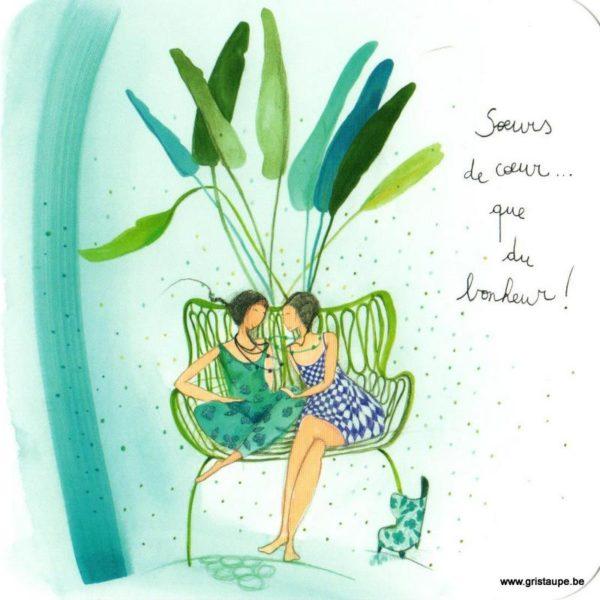 carte postale illustrée par anne sophie rutsaert et éditée aux éditions des correspondances soeurs de coeur