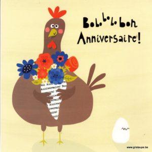 carte postale illustrée par Nastja holtfreter et éditée aux éditions aquarupella boboboh anniversaire