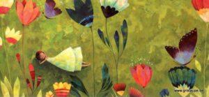 carte postale illustrée par aurélie blanz et éditée aux éditions aquarupella dans l'herbe