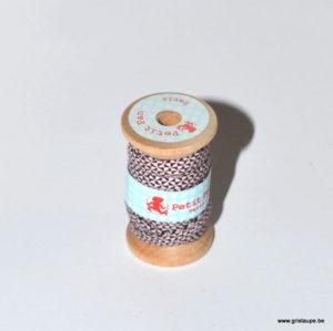 bobine de lien petit pan de couleur chardon volcan