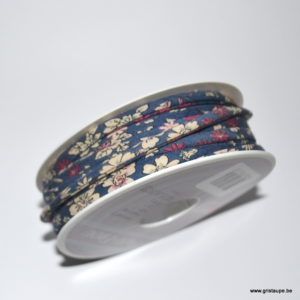 lien liberty fleuri bleu foncé frou frou