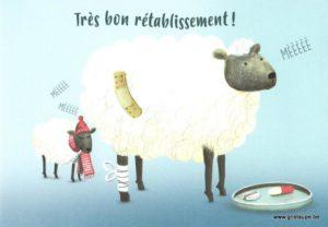 carte postale éditée par les éditions enfant terrible très bon rétablissement