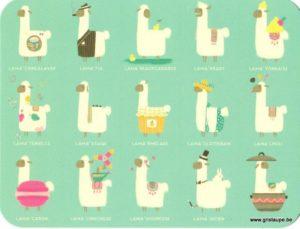 carte postale illustrée par camille Chaussy et éditée aux éditions des correspondances lama'chinchouette