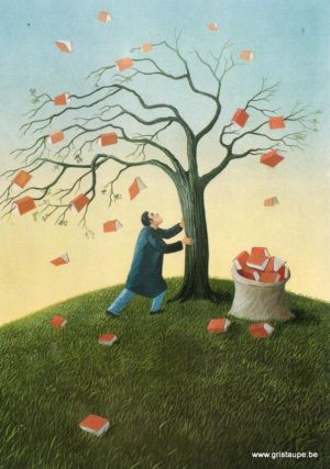 carte postale illustrée par soizick Meister et éditée aux éditions inkognito l'arbre à livre