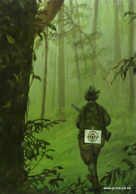 carte postale le chasseur chassé édité par inkignito
