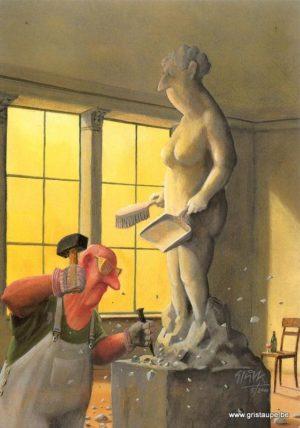 carte posale illustrée par gerhard gluck et éditée aux éditions inkognito
