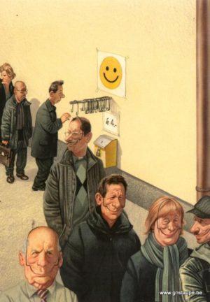 carte postale illustrée par haderer et éditée aux éditions inkognito le sourire