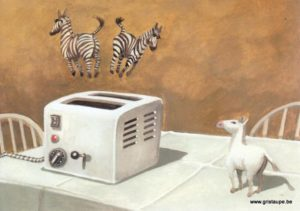 carte postale illustrée par peter gut et éditée aux éditions inkognito