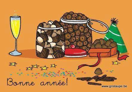 carte postale illustrée par cecile devron et éditée aux éditions coté bord'eau bonne année chocolat