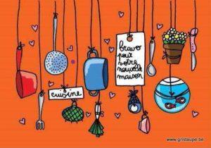 carte postale illustrée par cecile devron et éditée aux éditions coté bord'eau nouvelle maison