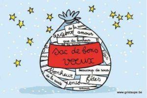 carte postale illustrée par cecile devron et éditée aux éditions coté bord'eau sac de bons voeux