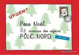 carte postale illustrée par cecile devron et éditée aux éditions coté bord'eau urgent père noel