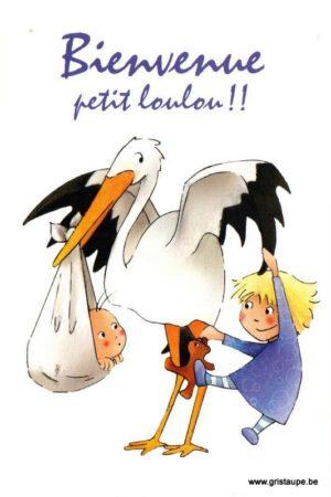 carte postale illustrée et éditée par christadoule bienvenue petit louou