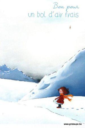carte postale illustrée et éditée par christadoule bon pour un bol d'air frais