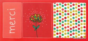 carte postale illustrée par clémence G et éditée aux éditions aquarupella Merci
