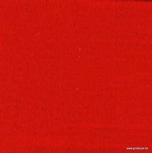coupon de coton oiki doki uni rouge coquelicot