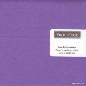 copon de coton froufrou de couleur violet