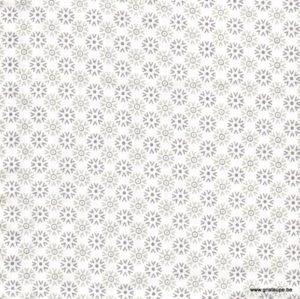 coupon de tissu soft cactus fleur givrée grise