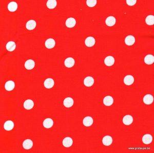 coupon de tissu soft cactus pois rouge