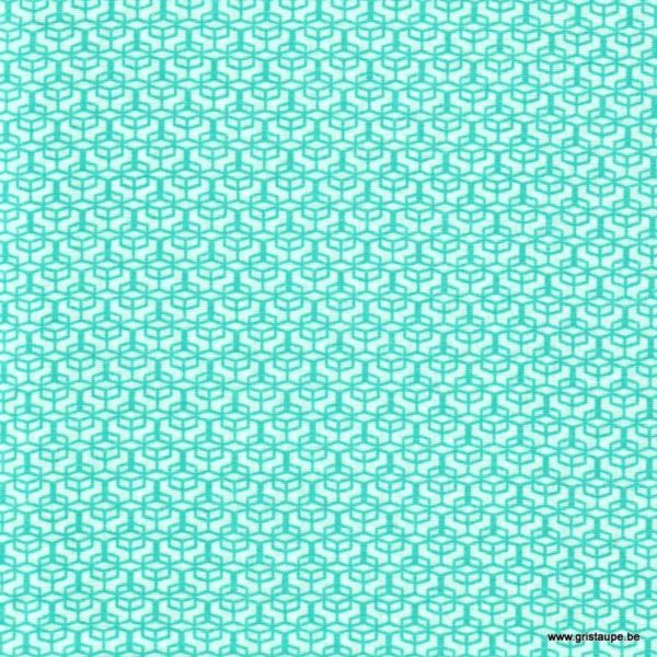 coupon de tissu soft cactus colored windows turquoise
