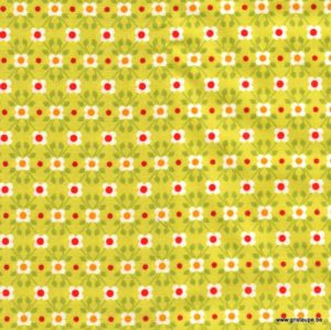 coupon de tissu soft cactus fleurette verte
