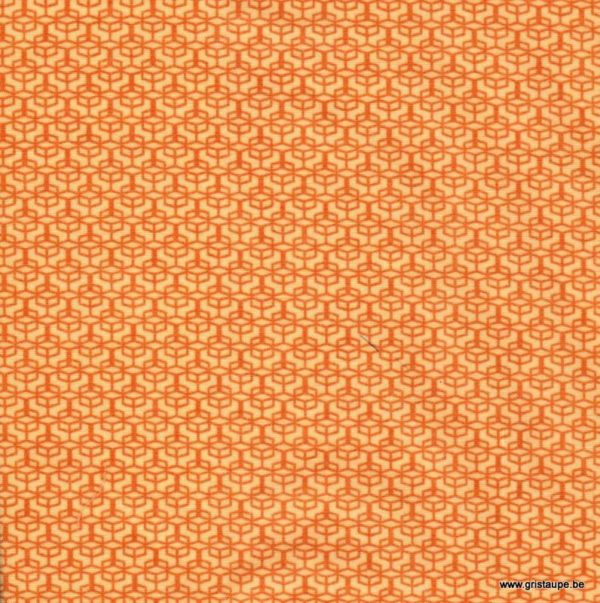 coupon de tissu soft cactus windows colored orange