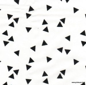 coupon de tissu soft cactus triangles noirs
