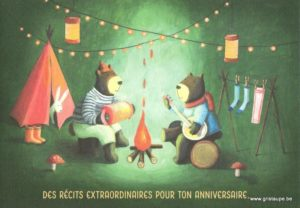carte postale édité par les éditions enfant terrible un récit extraordinaire pour ton anniversaire