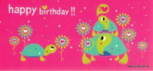 carte postale illustrée par emma schmid et éditée aux éditions aquarupella happy birthday