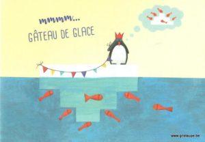 carte postale éditée par les éditions enfant terrible un gâteau de glace