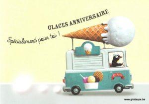 carte postale éditée aux éditions enfant terrible spécialement pour toi une glace anniversaire