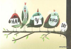 carte postale éditée par les éditions enfant terrible happy bird day
