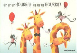 carte postale éditée aux éditions enfant terrible hip hip hip hourra