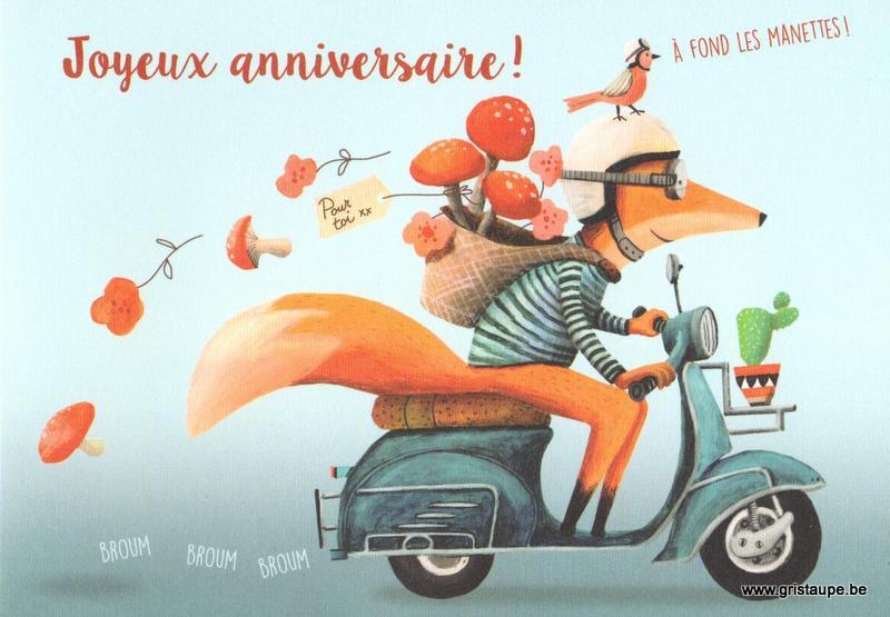 A Fond Les Manettes Joyeux Anniversaire Gris Taupe