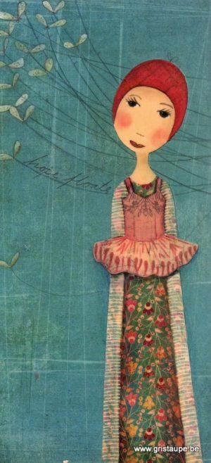 carte postale illustrée par katheine quinn et éditée aux éditions aquarupella la rêveuse