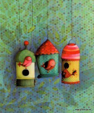 carte postale illustrée par ketto design et éditée aux éditions aquarupella les nichoirs