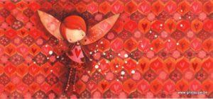 carte postale illustrée par ketto design et éditée chez aquarupella de juju à lulu