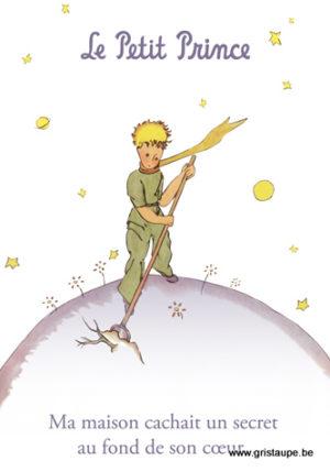 carte postale illustrée par saint exupery et éditée aux éditions kiub le petit prince
