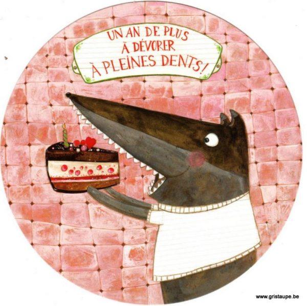 carte postale illustrée par les mamouchkas et éditées aux éditions correspondances un an de plus à dévorer à pleines dents