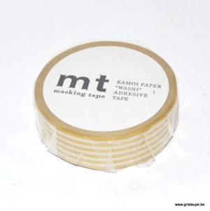 rouleau de masking tape ligné doré