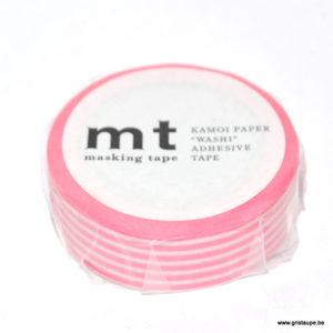 masking tape ligné rose