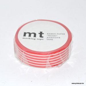 masking tape washi ligné rouge