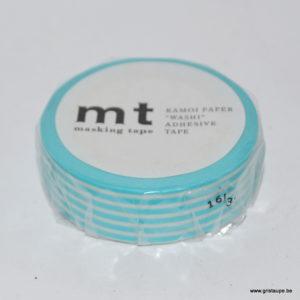masking tape ligné turquoise
