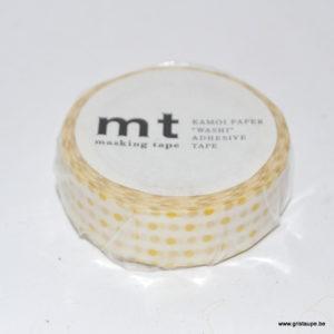 masking tape petit pois dorés