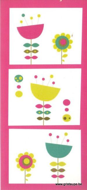 carte postale illustrée par nelle charly et éditée aux éditions aquarupella fleurs