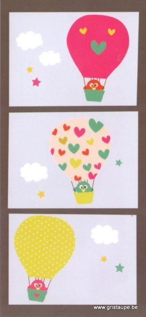 carte postale illustrée par Nelle charly et édité aux éditions aquarupella la montgolfière