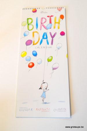 calendrier des anniversaires illustré par mona marek