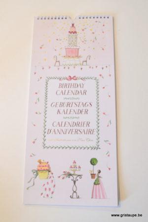 calendrier des anniversaires illustré par nina chen